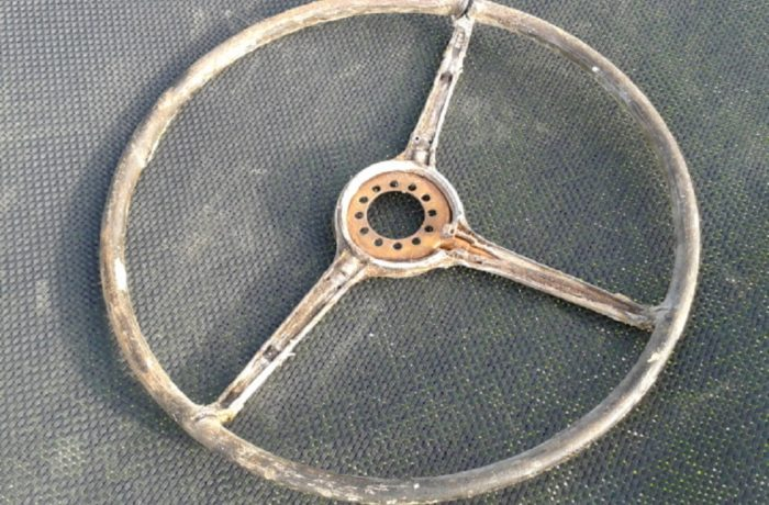 Steering wheel before reproduction